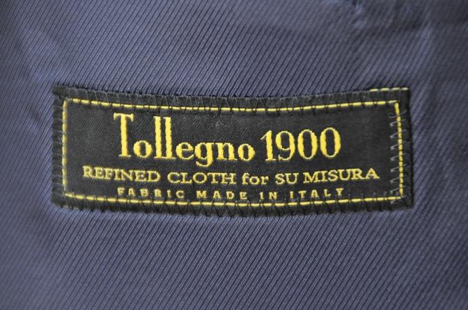 DSC10322 お客様のスーツの紹介-Tollegno ネイビーストライプ-