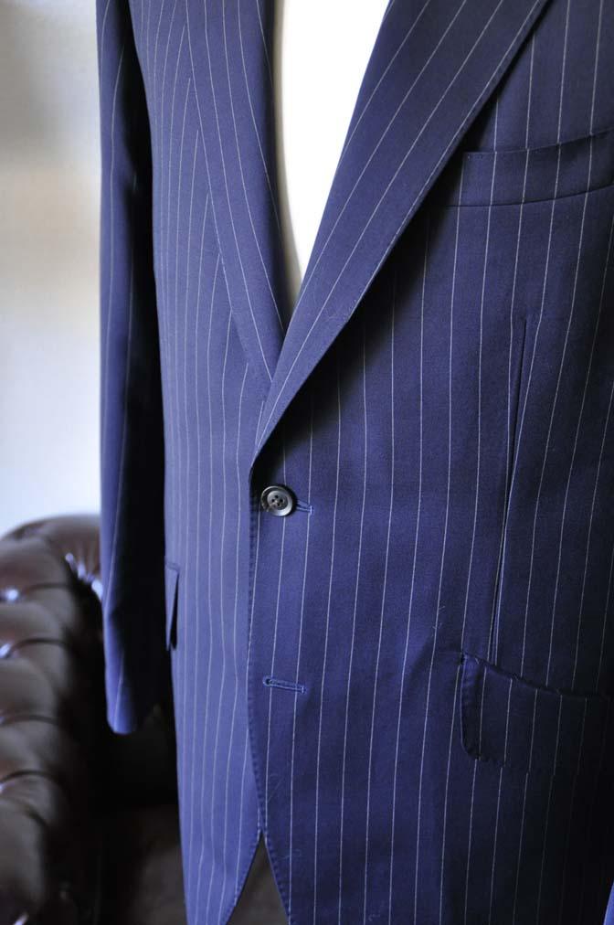 DSC1044-1 お客様のスーツの紹介- Biellesi ネイビーストライプスーツ-