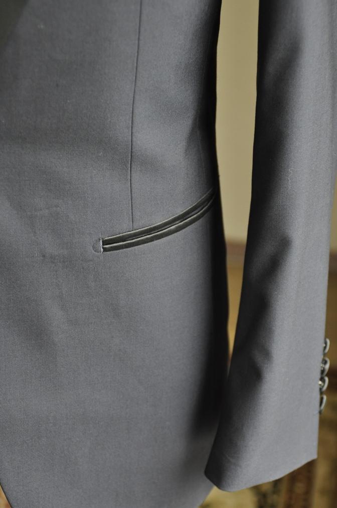 DSC10491 お客様のタキシードの紹介-ネイビーショールカラータキシード~007 ジェームズボンド~-