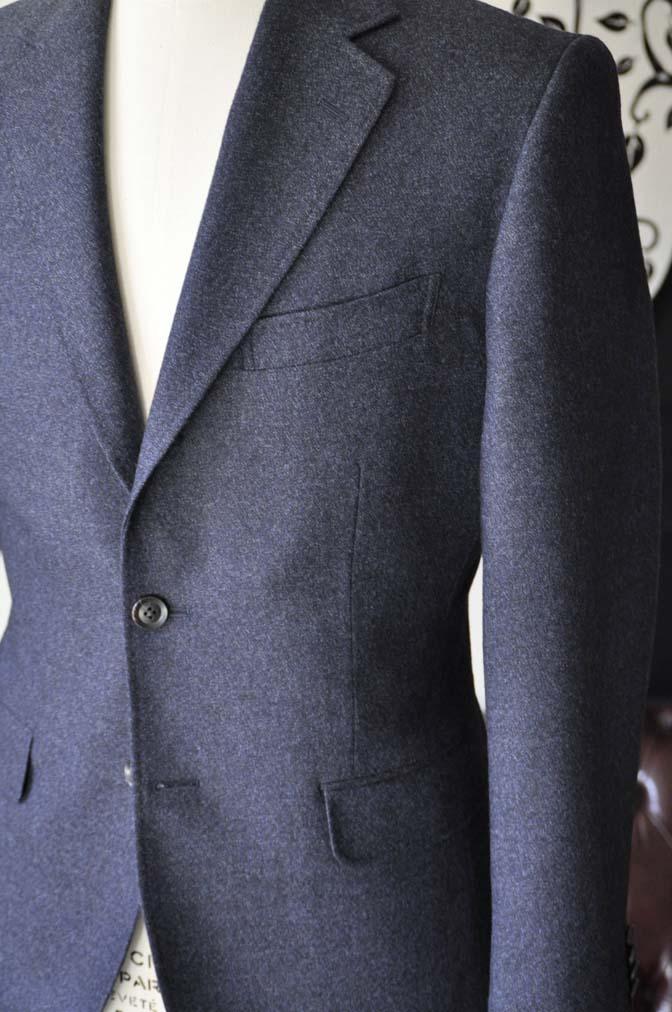 DSC1055-3 オーダースーツの紹介-ネイビーフランネルスーツ- 名古屋の完全予約制オーダースーツ専門店DEFFERT
