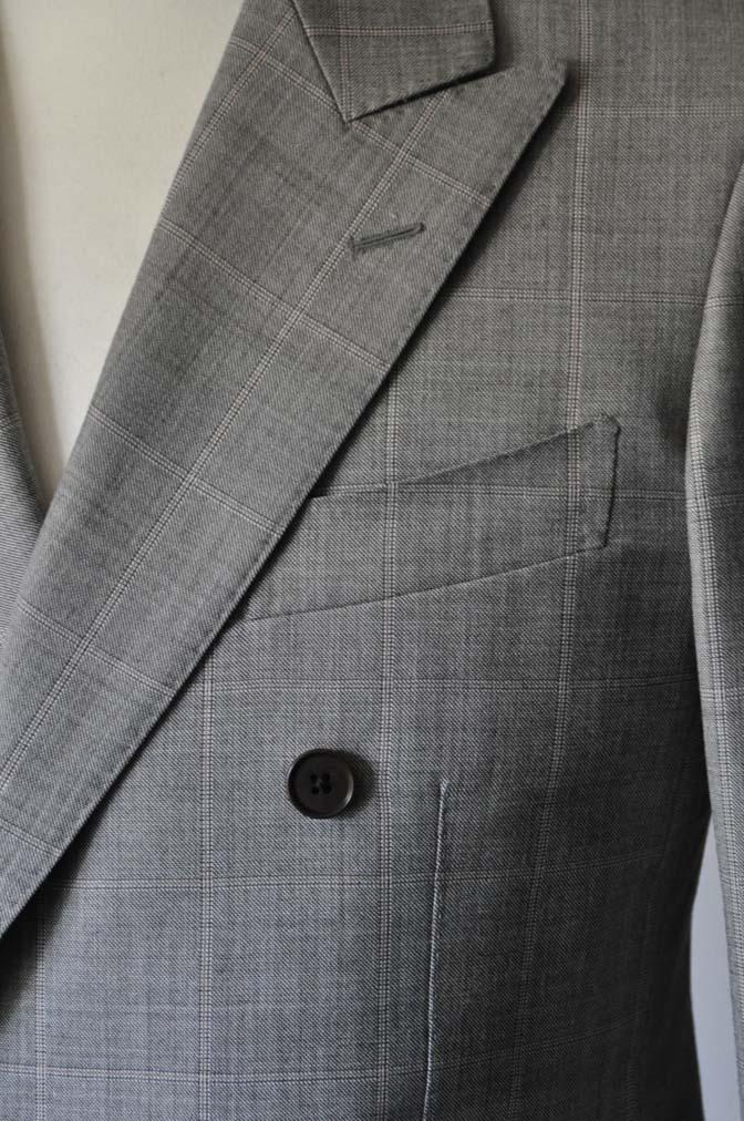 DSC1057-1 スーツの紹介- 御幸毛織 グレーウィンドペン ダブルスーツ- 名古屋の完全予約制オーダースーツ専門店DEFFERT