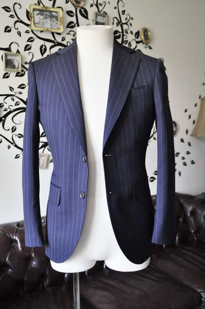 DSC1066-1 お客様のスーツの紹介-Biellesiネイビーストライプスーツ- 名古屋の完全予約制オーダースーツ専門店DEFFERT