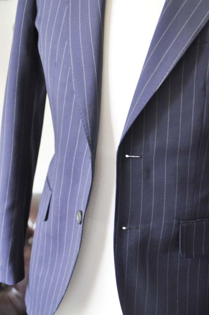 DSC1070-2 お客様のスーツの紹介-Biellesiネイビーストライプスーツ- 名古屋の完全予約制オーダースーツ専門店DEFFERT