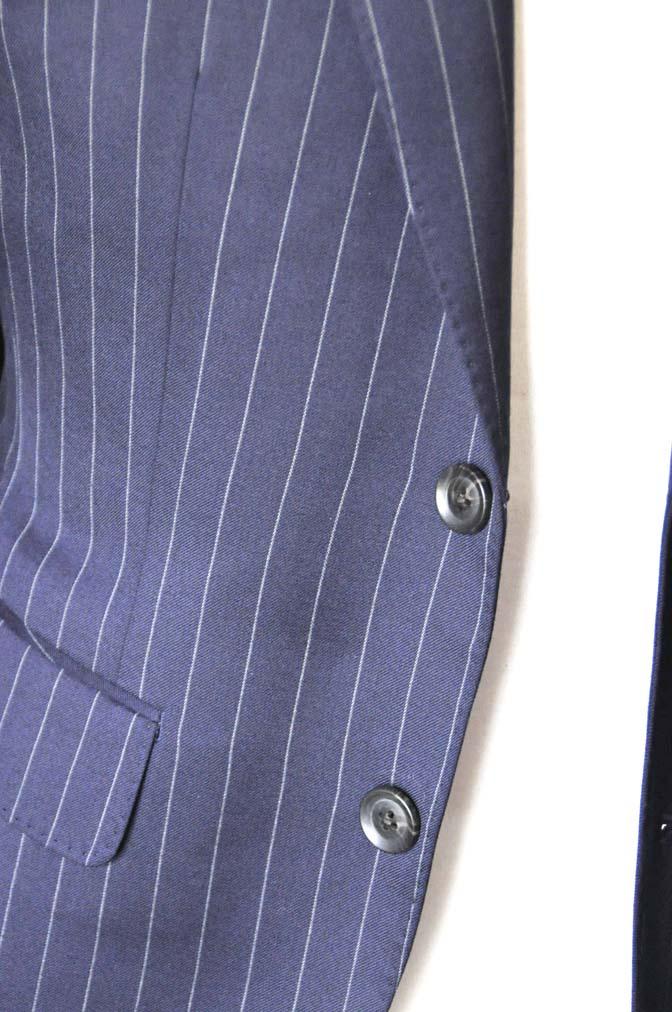 DSC1071-2 お客様のスーツの紹介-Biellesiネイビーストライプスーツ- 名古屋の完全予約制オーダースーツ専門店DEFFERT