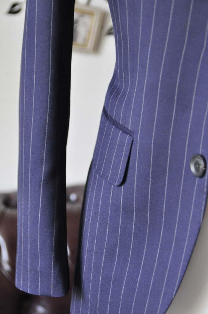 DSC1072-2 お客様のスーツの紹介-Biellesiネイビーストライプスーツ- 名古屋の完全予約制オーダースーツ専門店DEFFERT