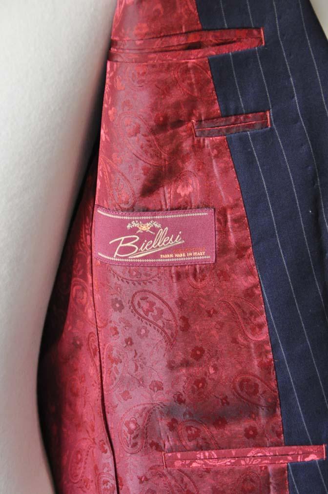 DSC1076-1 お客様のスーツの紹介-Biellesiネイビーストライプスーツ- 名古屋の完全予約制オーダースーツ専門店DEFFERT