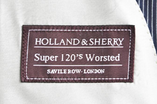DSC10781 オーダースーツ-HOLLAND&SHERRY ネイビーストライプ-