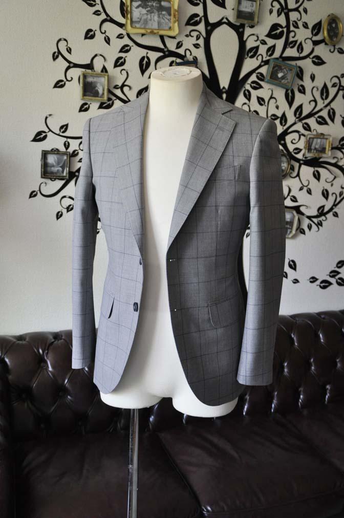 DSC1081-2 お客様のスーツの紹介-Biellesiグレーウィンドペンスーツ-