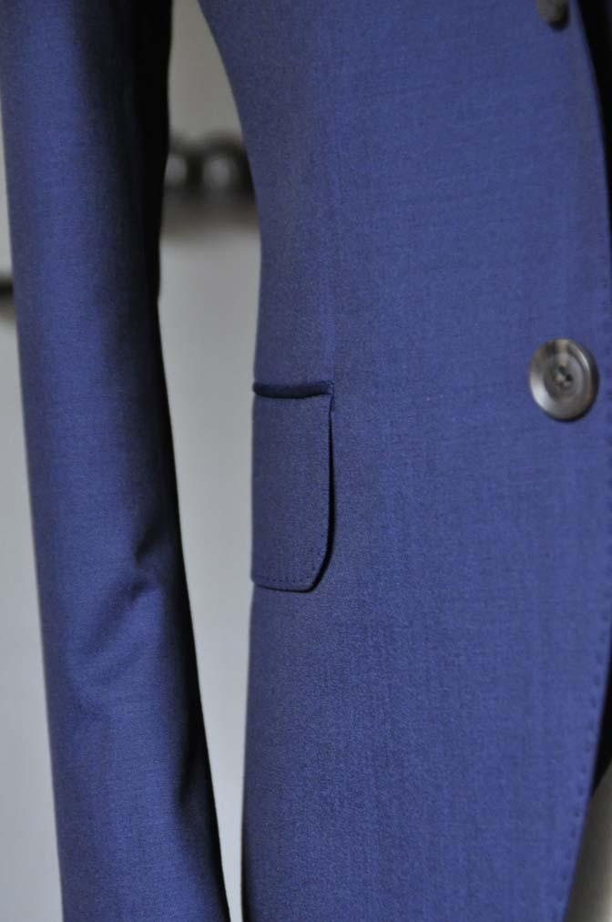 DSC1083-1 お客様のスーツの紹介- Canonico 無地ネイビースリーピーススーツ- 名古屋の完全予約制オーダースーツ専門店DEFFERT