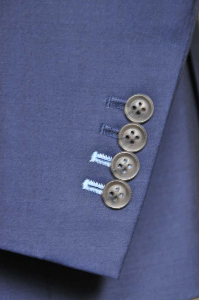 DSC1085-1 お客様のスーツの紹介- Canonico 無地ネイビースリーピーススーツ- 名古屋の完全予約制オーダースーツ専門店DEFFERT