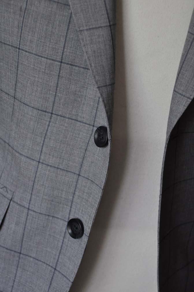 DSC1086 お客様のスーツの紹介-Biellesiグレーウィンドペンスーツ-