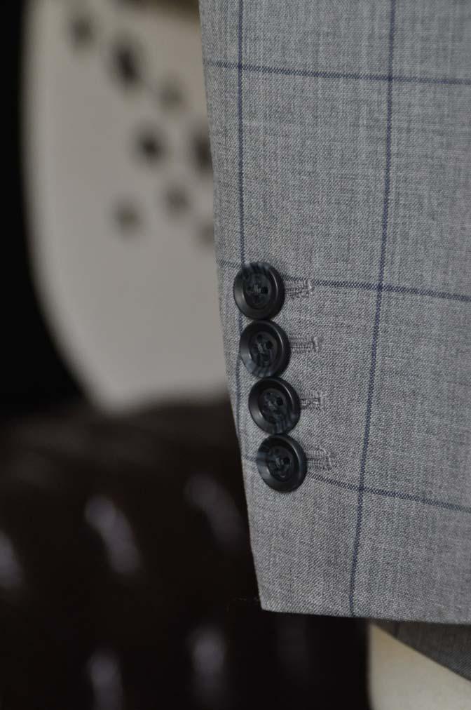 DSC1089-1 お客様のスーツの紹介-Biellesiグレーウィンドペンスーツ- 名古屋の完全予約制オーダースーツ専門店DEFFERT