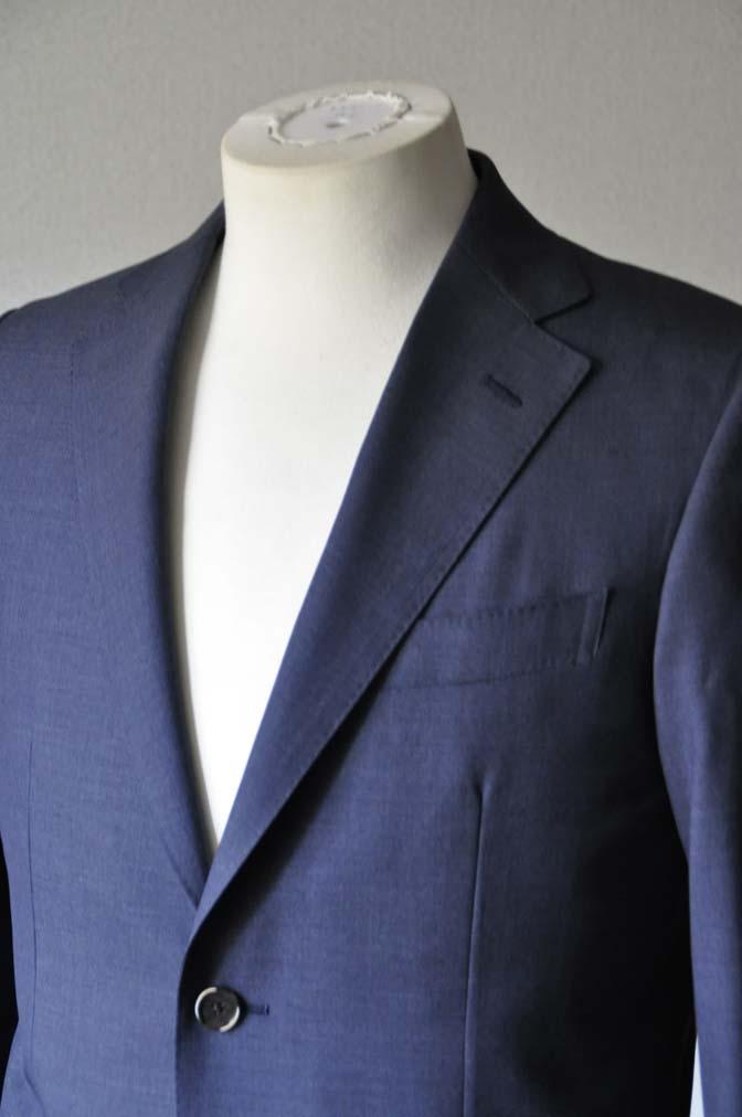 DSC1094 お客様のスーツの紹介- Canonico 無地ネイビースーツ-