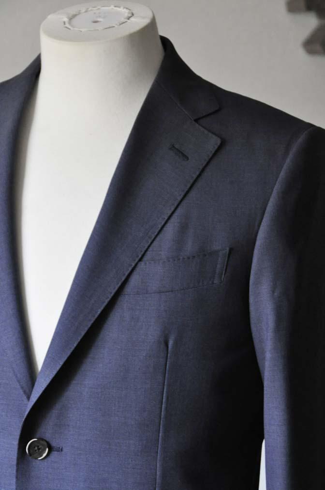 DSC1095 お客様のスーツの紹介- Canonico 無地ネイビースーツ-