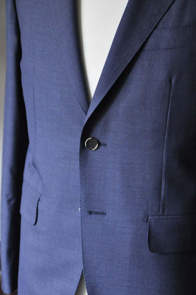 DSC1096 お客様のスーツの紹介- Canonico 無地ネイビースーツ- 名古屋の完全予約制オーダースーツ専門店DEFFERT