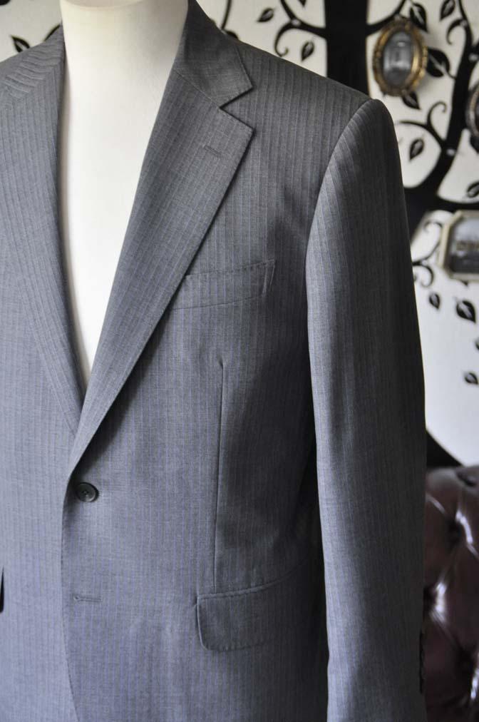 DSC1099-1 お客様のスーツの紹介-Biellesiグレーストライプスーツ-