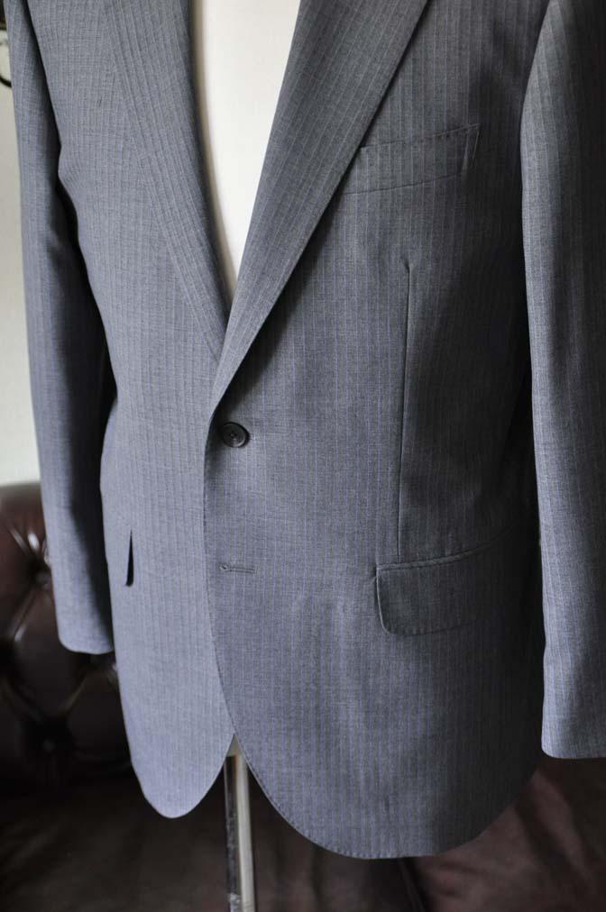 DSC1100-2 お客様のスーツの紹介-Biellesiグレーストライプスーツ-