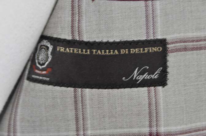 DSC11021 お客様のジャケットの紹介-TALLIA DI DELFINO ベージュ/レッドウィンドペン-