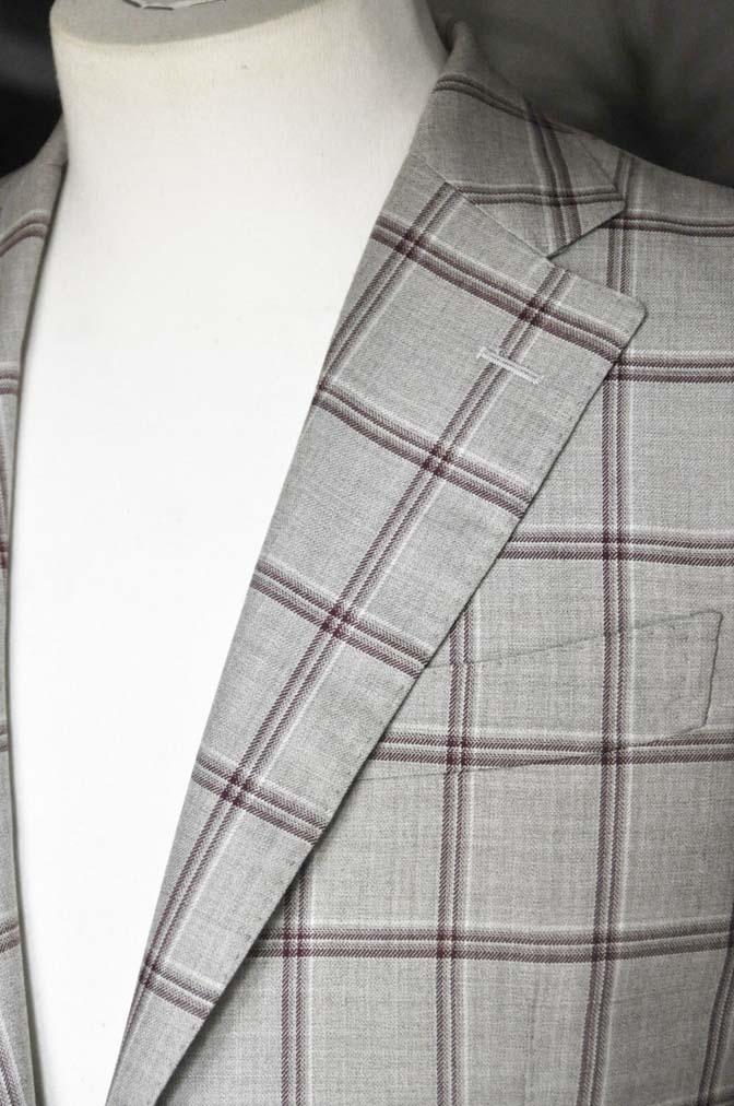 DSC1104 お客様のジャケットの紹介-TALLIA DI DELFINO ベージュ/レッドウィンドペン-