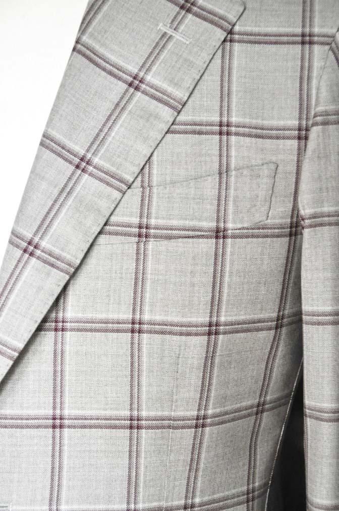DSC1105 お客様のジャケットの紹介-TALLIA DI DELFINO ベージュ/レッドウィンドペン-