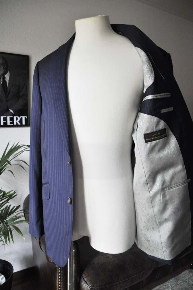 DSC11131 お客様のスーツの紹介-CANONICO ネイビーストライプ- 名古屋の完全予約制オーダースーツ専門店DEFFERT