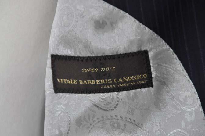 DSC11152 お客様のスーツの紹介-CANONICO ネイビーストライプ-