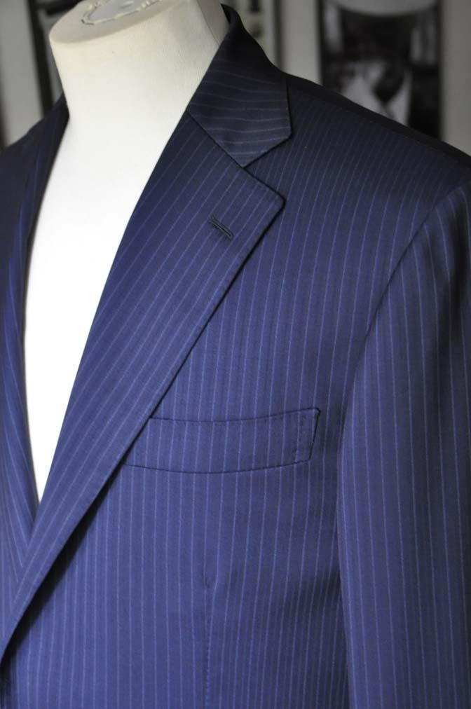 DSC11163 お客様のスーツの紹介-CANONICO ネイビーストライプ- 名古屋の完全予約制オーダースーツ専門店DEFFERT