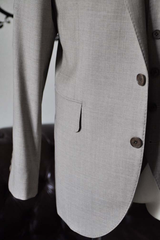 DSC1118-2 お客様のスーツの紹介-REDA ライトブラウンスリーピース- 名古屋の完全予約制オーダースーツ専門店DEFFERT