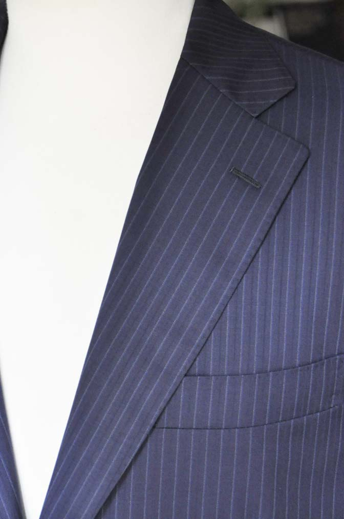 DSC11182 お客様のスーツの紹介-CANONICO ネイビーストライプ- 名古屋の完全予約制オーダースーツ専門店DEFFERT