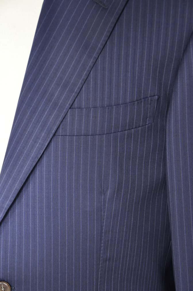 DSC11192 お客様のスーツの紹介-CANONICO ネイビーストライプ- 名古屋の完全予約制オーダースーツ専門店DEFFERT