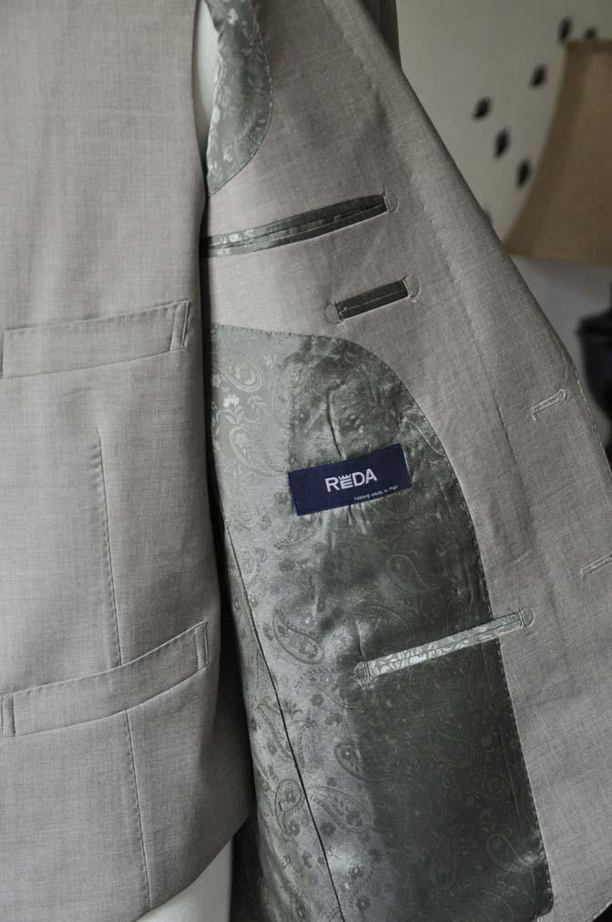 DSC1122-2 お客様のスーツの紹介-REDA ライトブラウンスリーピース- 名古屋の完全予約制オーダースーツ専門店DEFFERT