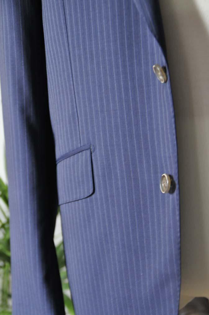 DSC11231 お客様のスーツの紹介-CANONICO ネイビーストライプ-