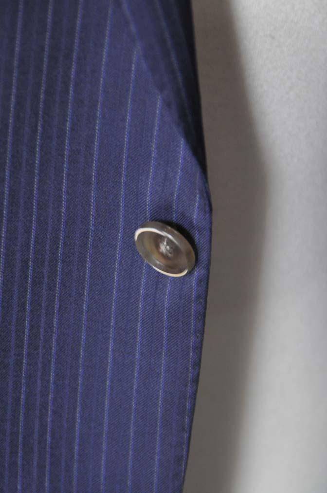 DSC11242 お客様のスーツの紹介-CANONICO ネイビーストライプ-