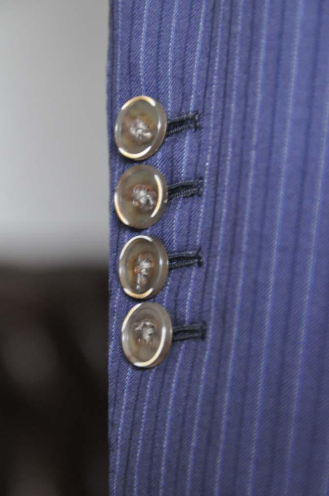DSC11302 お客様のスーツの紹介-CANONICO ネイビーストライプ-