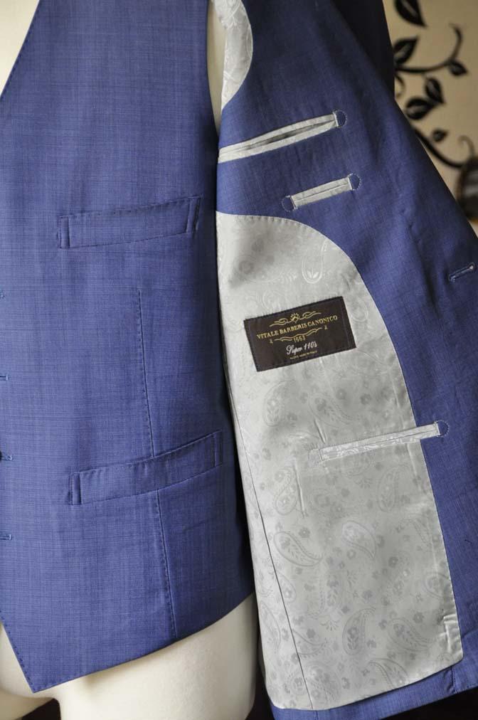 DSC1141-1 お客様のスーツの紹介-CANONICOネイビースリーピース-