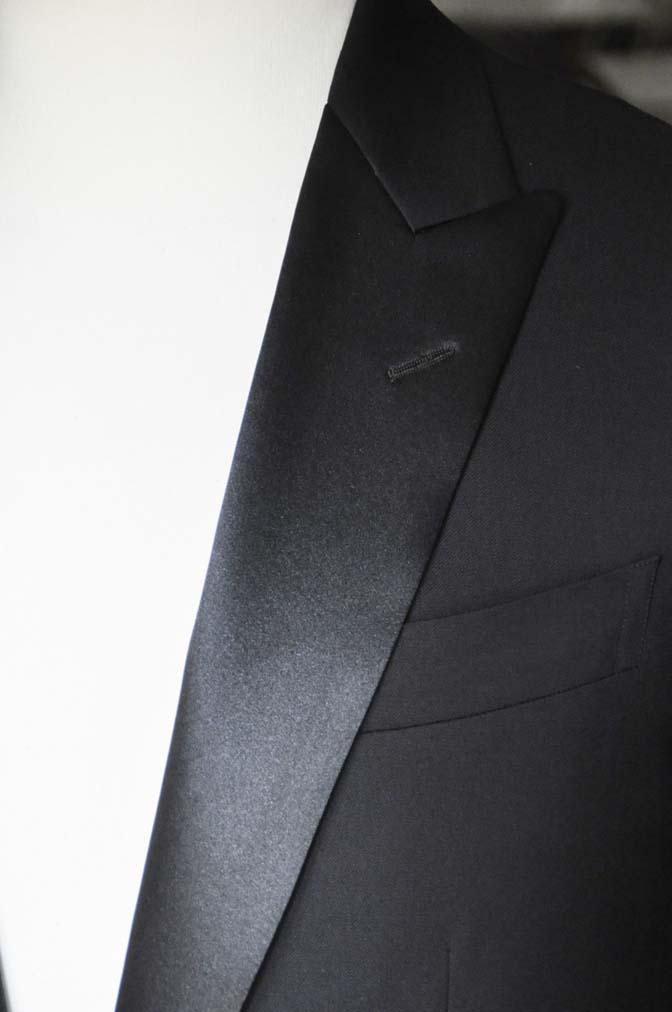 DSC11412 お客様のタキシードの紹介- Biellesi ブラックタキシード- 名古屋の完全予約制オーダースーツ専門店DEFFERT
