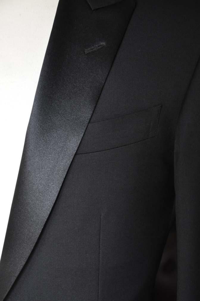 DSC11422 お客様のタキシードの紹介- Biellesi ブラックタキシード- 名古屋の完全予約制オーダースーツ専門店DEFFERT