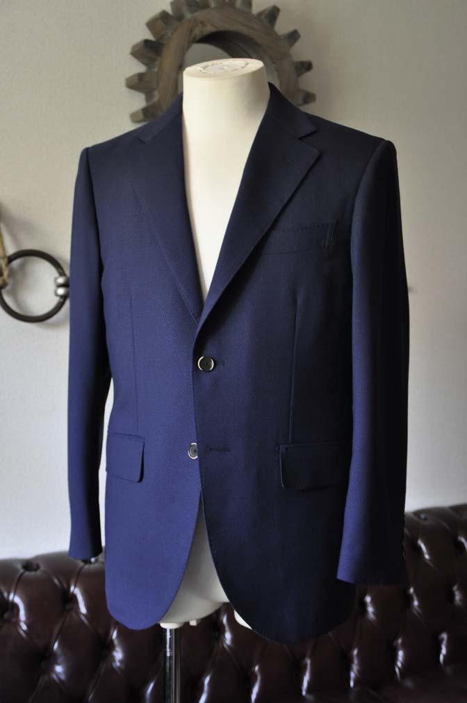 DSC1146-1 お客様のスーツの紹介-ネイビーバーズアイ-