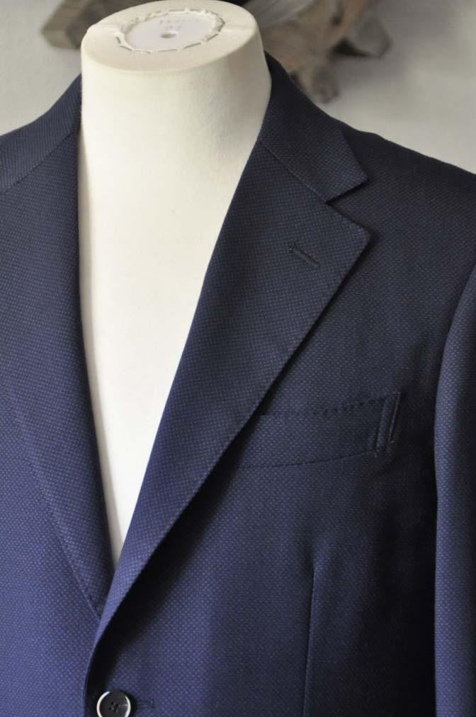 DSC1147-1 お客様のスーツの紹介-ネイビーバーズアイ-