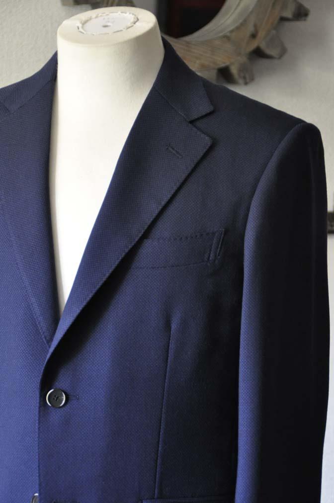 DSC1148-1 お客様のスーツの紹介-ネイビーバーズアイ-