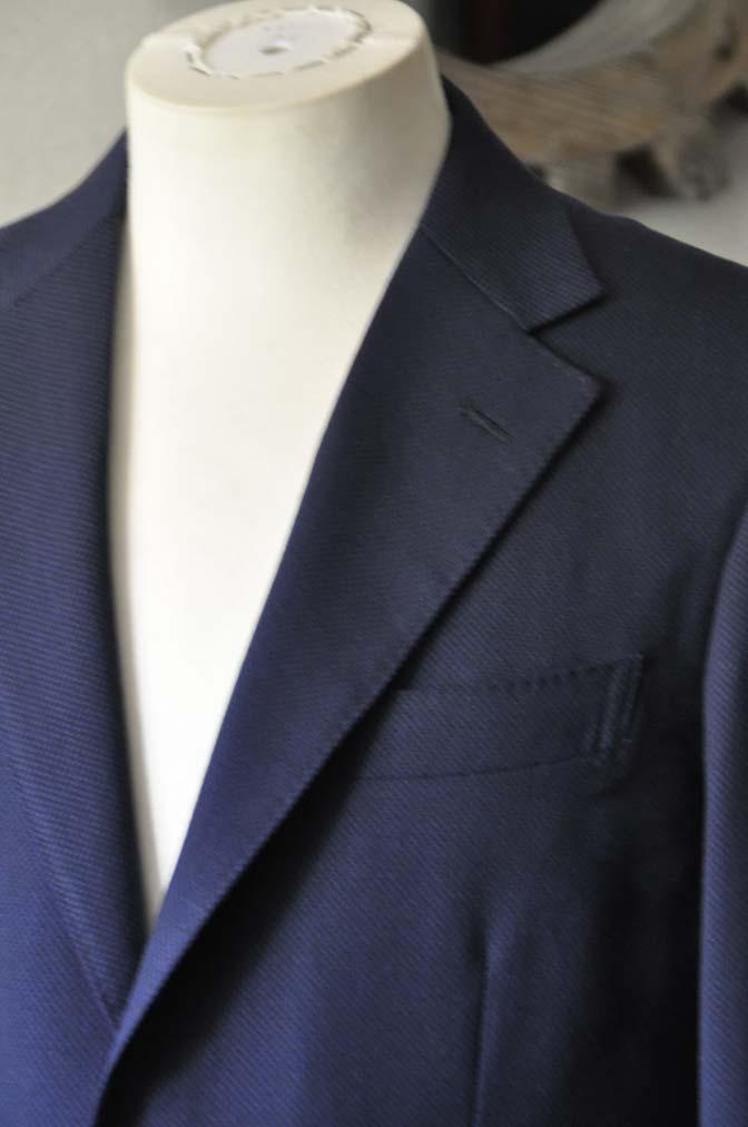 DSC1149-1 お客様のスーツの紹介-ネイビーバーズアイ-
