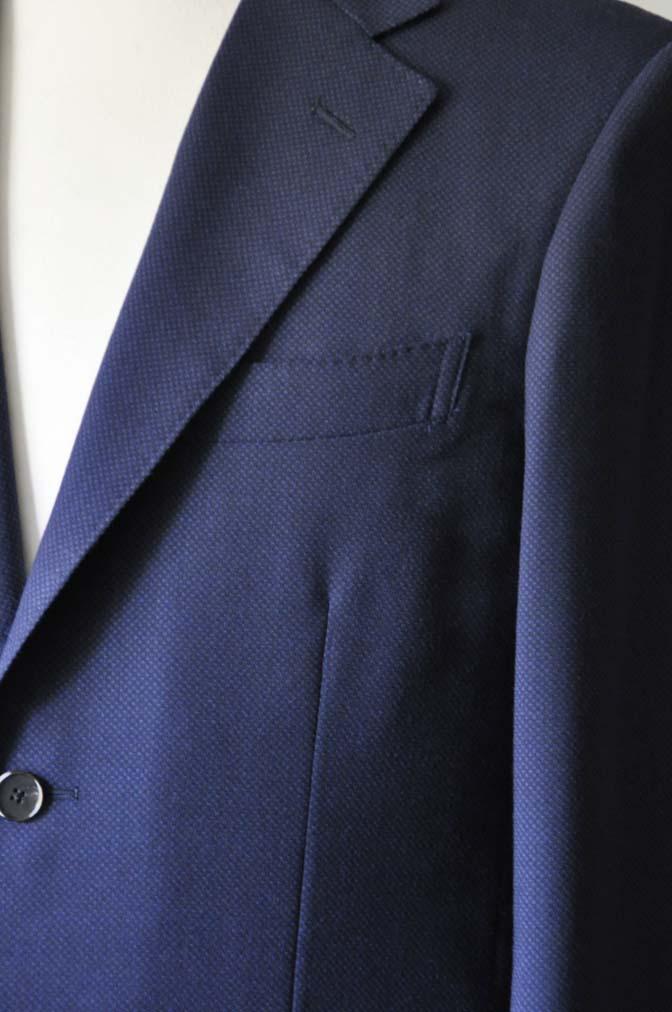 DSC1150-1 お客様のスーツの紹介-ネイビーバーズアイ-
