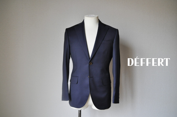 DSC11511 お客様のスーツの紹介-BIELLESI 無地ネイビースーツ-