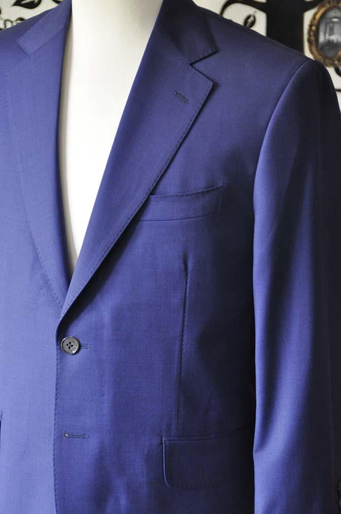 DSC1153-2 お客様のスーツの紹介-Biellesi無地ネイビースーツ-