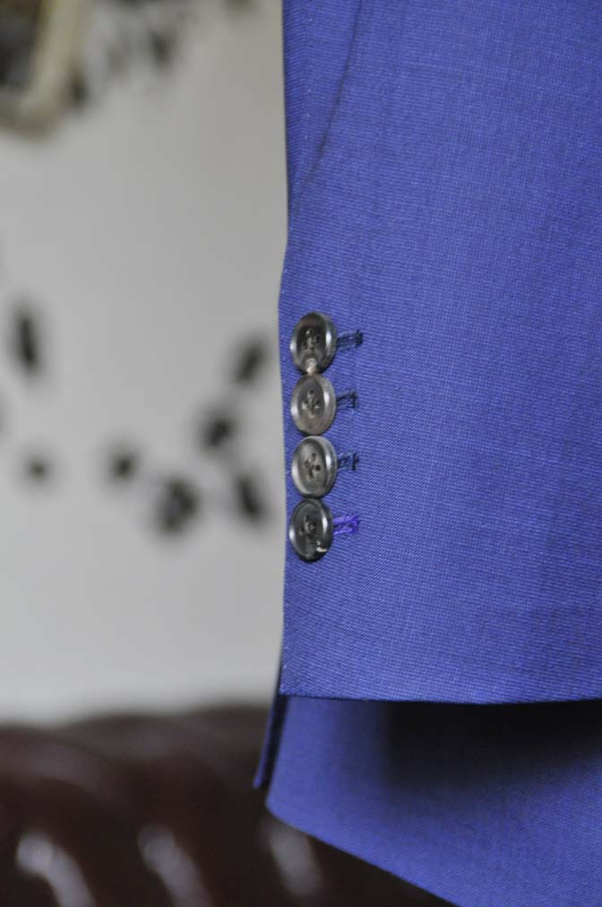 DSC1157-1 お客様のスーツの紹介-Biellesi無地ネイビースーツ-