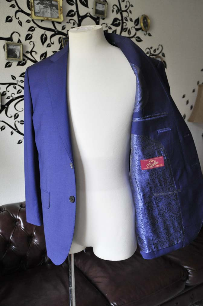 DSC1158-2 お客様のスーツの紹介-Biellesi無地ネイビースーツ- 名古屋の完全予約制オーダースーツ専門店DEFFERT