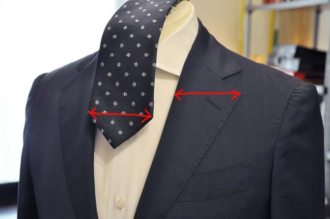 DSC1178-1 ネクタイとラペルの幅について 名古屋の完全予約制オーダースーツ専門店DEFFERT