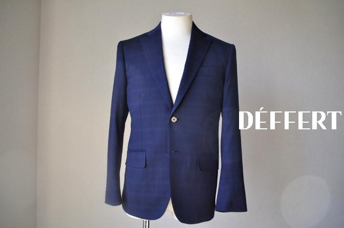 DSC1211 お客様のスーツの紹介-Biellesi ネイビーチェックス-ツ-
