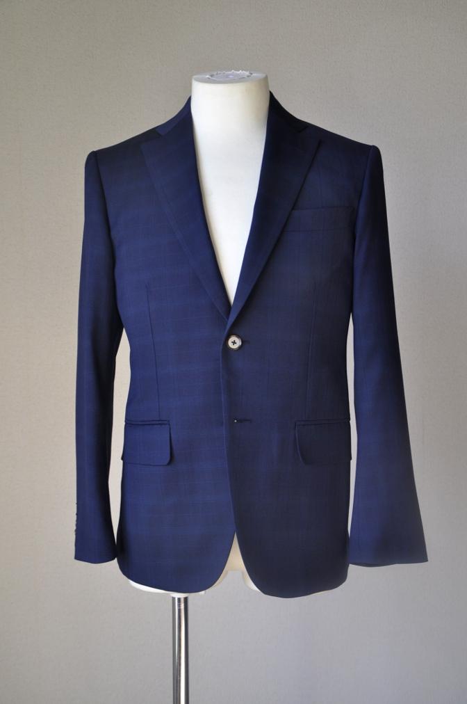 DSC1212 お客様のスーツの紹介-Biellesi ネイビーチェックス-ツ-