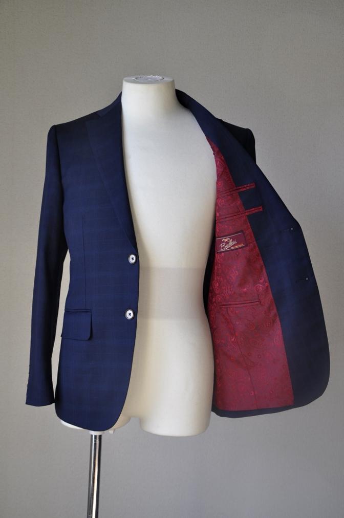 DSC12131 お客様のスーツの紹介-Biellesi ネイビーチェックス-ツ-